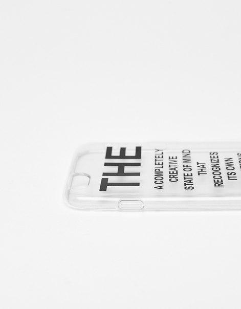Прозрачный чехол с надписью для iPhone 6/6s
