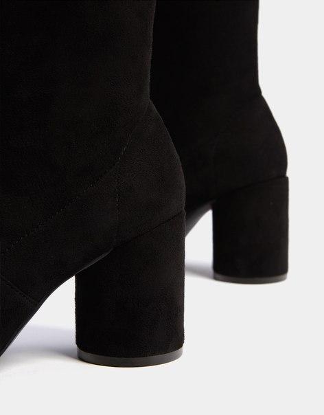 Ботфорты на среднем каблуке