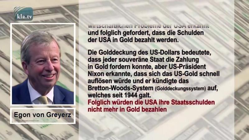 Egon von Greyerz: Die USA schulden der Welt fast dreimal mehr Gold, als es auf der Welt gibt ► Woher kommt die enorme Überschul