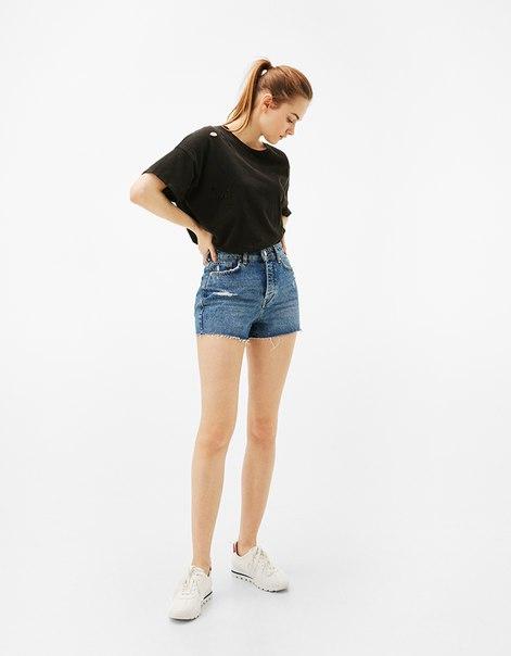 Джинсовые шорты Mom fit в винтажном стиле