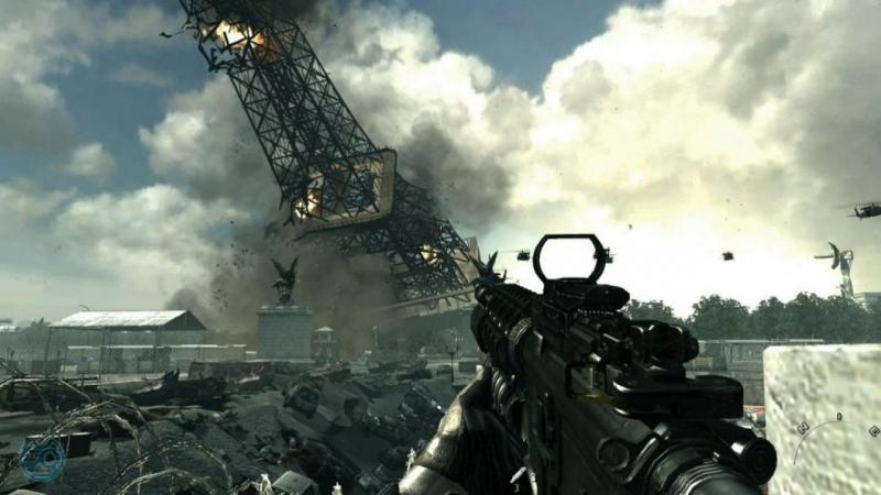 Call of Duty Modern Warfare 3 / падение Эйфелевой башни