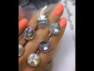 Серьги с кристаллами Swarovski 💎💎💎🔥