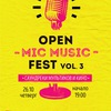 OPEN MIC MUSIC FEST