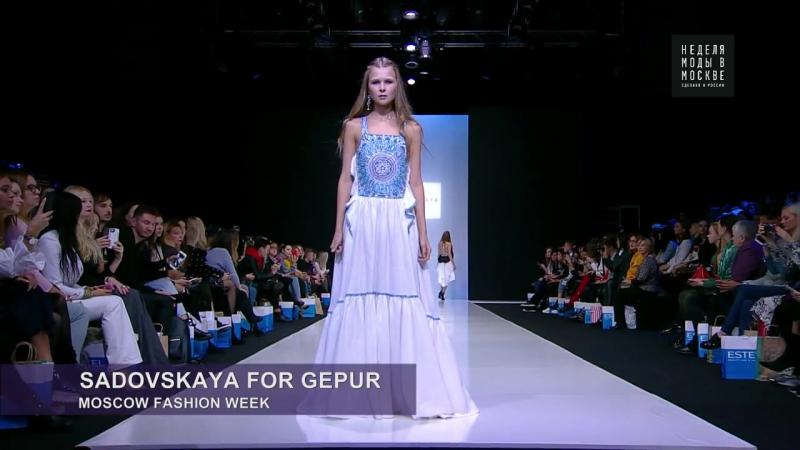 Неделя моды в Москве - Sadovskaya for Gepur новый взгляд на вечерние платья