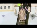 У короля Саудовской Аравии в Москве сломался трап-эскалатор.