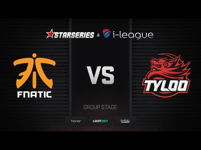 Fnatic vs TyLoo, map 2 inferno, StarSeries i-League Season 4 Finals