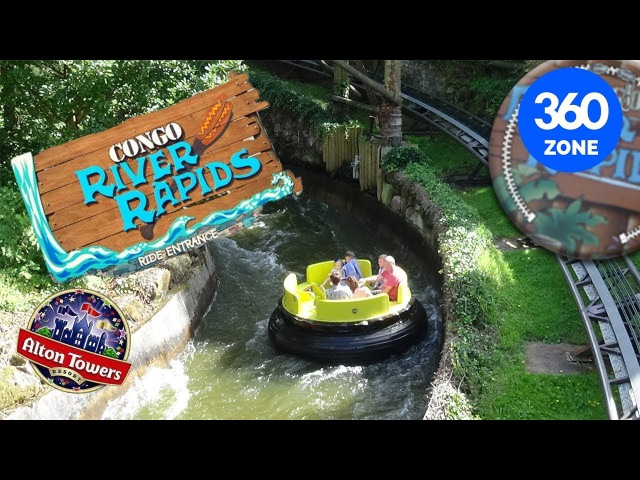 Alton Towers Resort Congo River Rapids 360 Video VR