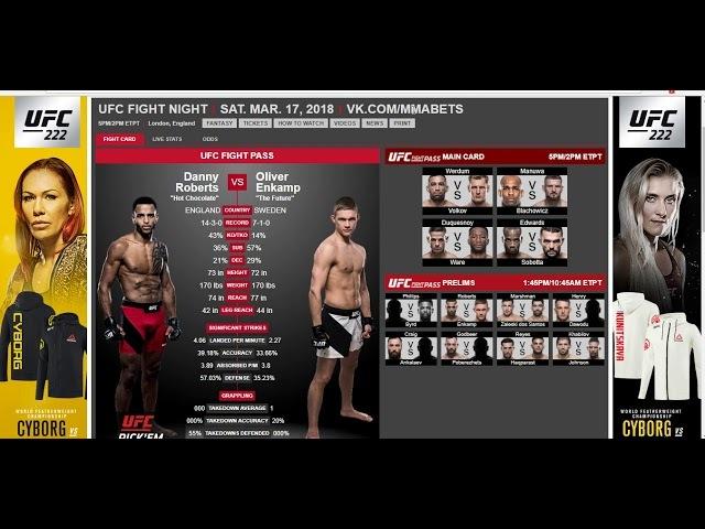 Прогноз и Аналитика боев от MMABets UFC FN 127 Маршман Скот Робертс Энкамп Выпуск №71 Часть 3 5