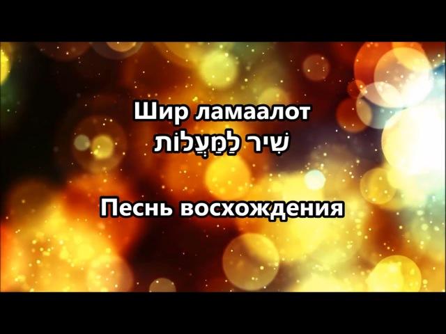 Шир ламаалот שִׁיר לַמַּעֲלוֹת Песнь восхождения - Yossi Azulay יוסי אזולאי Иосси Азулай