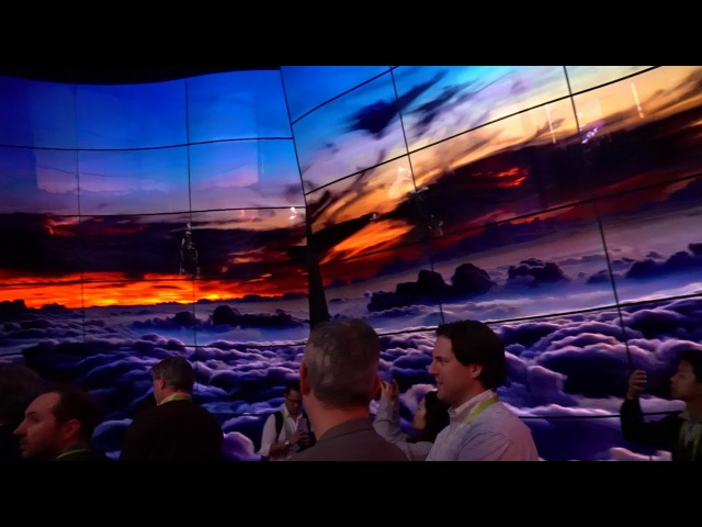 LG OLED Canyon Walk-Through at CES 2018 with 246 OLED Screens!