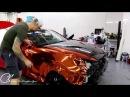 Time Lapse Orange Chrome Vinyl Installation Genesis Coupe With Gloss Carbon Fiber Vinyl By @ckwraps