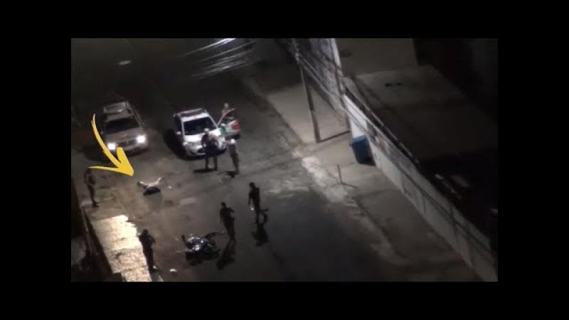 Bandido tenta roubar a moto, mas cidadão estava armado e rendeu bandido até a PM Chegar.