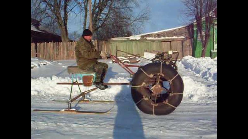 снегоход из самодельного мотоблока.