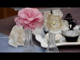 (https://vk.com/lakomkavk) How to Make Lace Flowers for Cake Decorating - Global Sugar Art