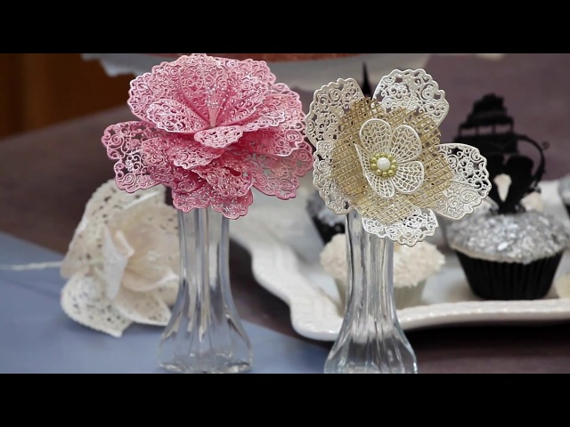 How to Make Lace Flowers for Cake Decorating - Global Sugar Art