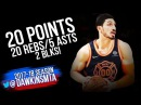 Enes Kanter Full Highlights 2018 01 30 vs Nets 20 Pts 20 Rebs 5 Asts 2 Blks FreeDawkins