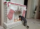 Рождественский новогодний камин своими руками вместе с котом Федором Мастер класс