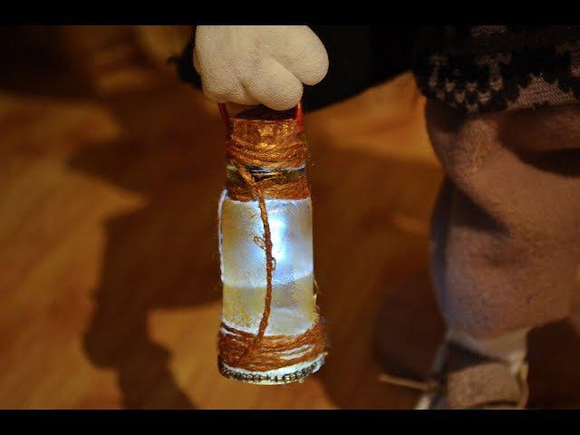 Как сделать светильник для куклы how to make a doll flashlight