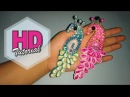 DIY || Cara Membuat Bros Merak || HD Tutorial || Kanzashi flower