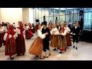Танцы на фольк-фестывалі ў Тарту / Dances during the folk festival in Tartu, November 2017