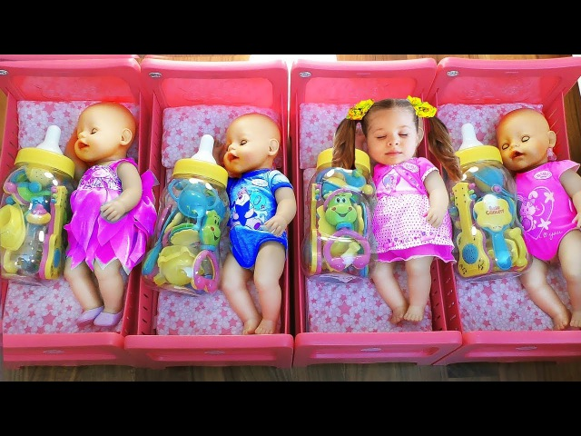 Diana playing with Baby Born Doll learn colors for kids toddlers Videos for children