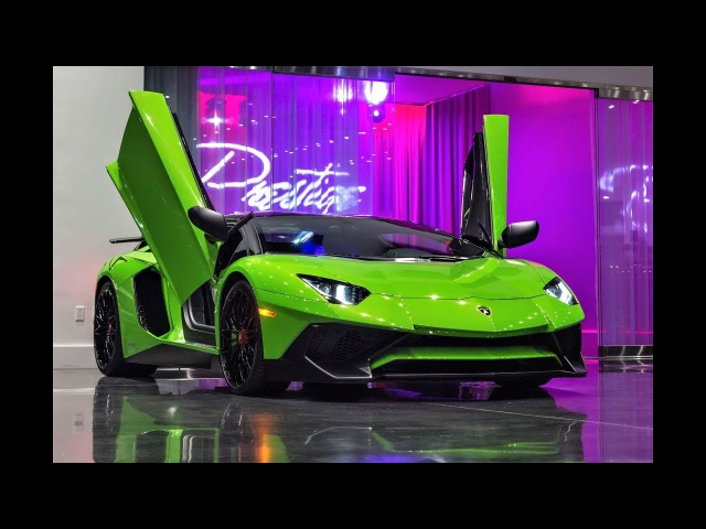 Lamborghini Aventador LP750-4 Superveloce Roadster Interior Roof Removal Sound at Lamborghini Мiami