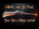 Model and 3D Print a Magic Wand in Blender Beginner's Tutorial
