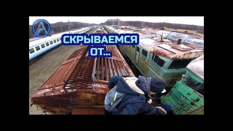 Здесь хранятся поезда из Чернобыля. Харьковское кладбище поездов. Огромное!