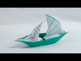 Paper Boat that Floats on Water - Origami Sailing Boat Tutorial (Henry Ph