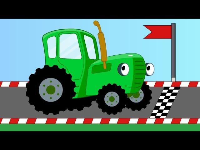 Мультик. Синий трактор едет на гонки. Angry Birds. Синий Трактор Гоша. Щенячий Патруль....