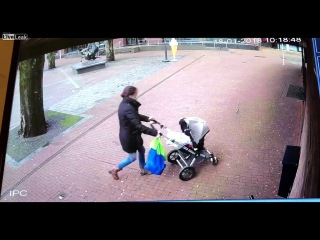 Tree Nearly Kills Mother And Baby in a Stroller