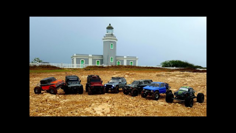 Trail Whit Axial's scx10 ii And Traxxas Trx4