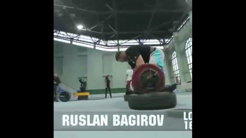 Руслан Багиров (Беларусь), бревно - 160 кг на турнире