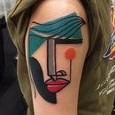 Лондонский тату-мастер Mike Boyd вдохновляется картинами Пикассо и делает тату в стиле куб…