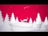 Поздравление с Новым Годом 2018 и Рождеством. Видео открытка  красивая