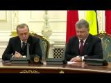 Эрдоган уснул на пресс-конференции с Порошенко...