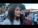 Юлия Топольницкая на концерте Шнура - Экспонат 2016