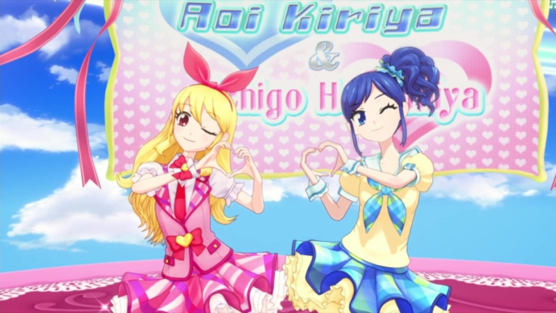 Aikatsu Episode 4 Idol Activity Hoshimiya Ichigo and Kiriya Aoi 1080p