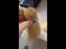 Blond color hair