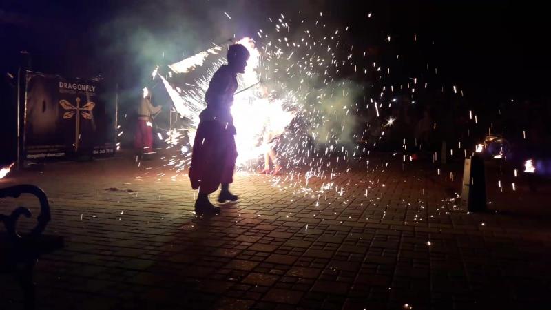 вогняне шоу на День міста Тячів
