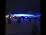 Возле здания КНИТУ-КАИ на Четаева включили подсветку самолета Ту-144