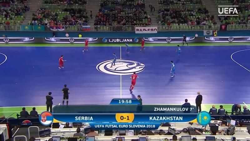 UEFA Futsal Euro / Slovenia 2018 - Quarter Finals - Serbia 1x3 Kazakhstan