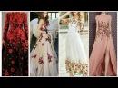 Latest Designer Floral Net Dresses Designs 2017