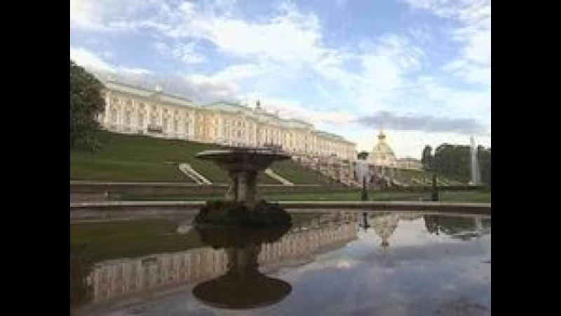 Петергоф. Большой дворец. Зодчие Франческо Растрелли и Юрий Фельтен