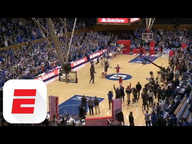 Duke fan nails half-court shot for $18K | College GameDay | ESPN