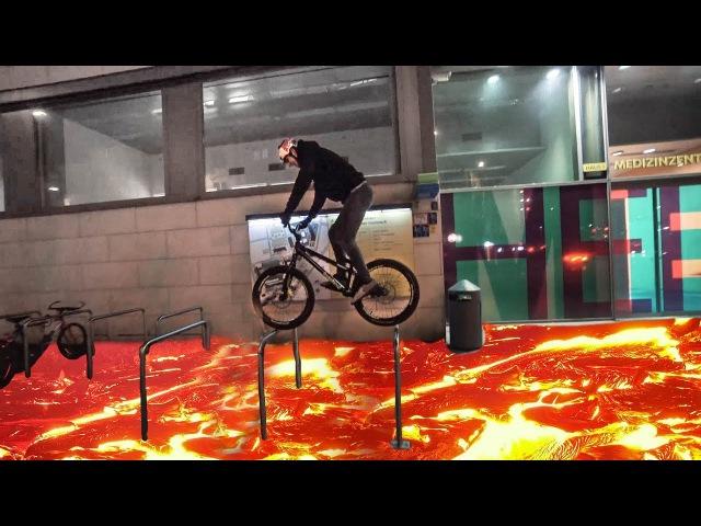 The Floor is Lava Challenge on bikes  SickSeries34