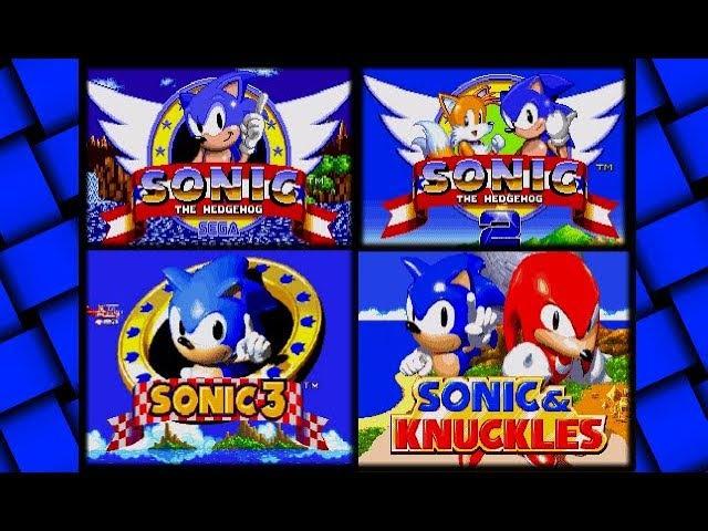 Sonic (SEGA) - All Main Old Sonic Games - Gameplay