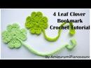 Shamrock Four Leaf Clover Crochet Tutorial [with narration]