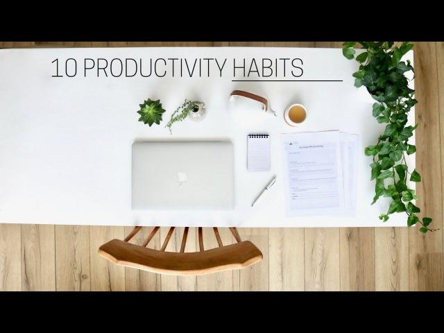 HEALTHY PRODUCTIVITY HABITS » printable guide
