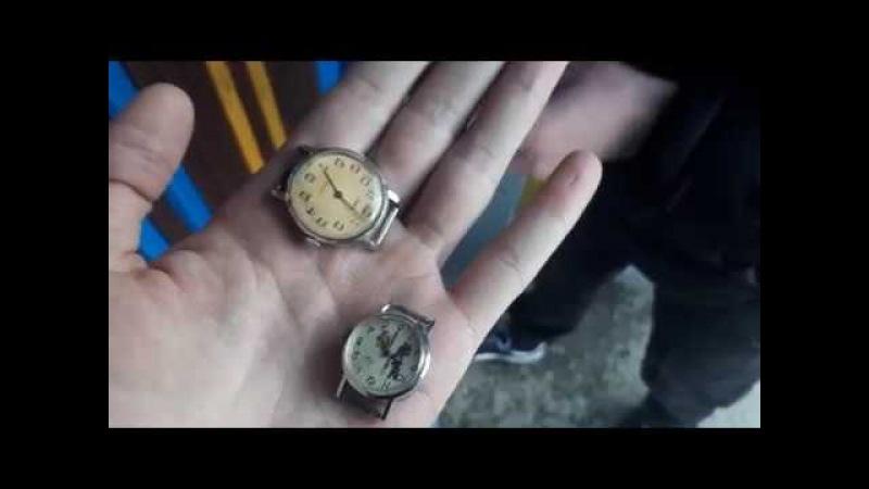 Распаковка лота с Виолити. Часы Зоря, Часы Луч ( детские)